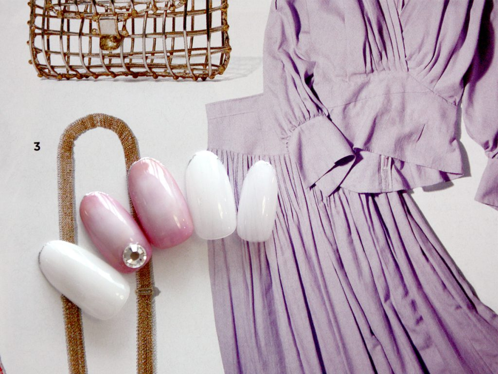 春に変わる季節に。桜ピンクのニュアンスグラデネイル